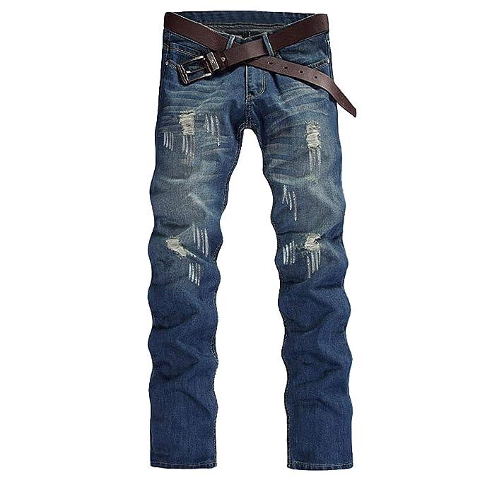 Huicai Los Hombres estiran los Pantalones Vaqueros del ...