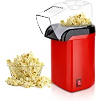 Hot Air Popcorn Popper Maker, Mini Popcorn Machine with Measuring Cup and Removable Lid No Oil Needed for Home Family…
