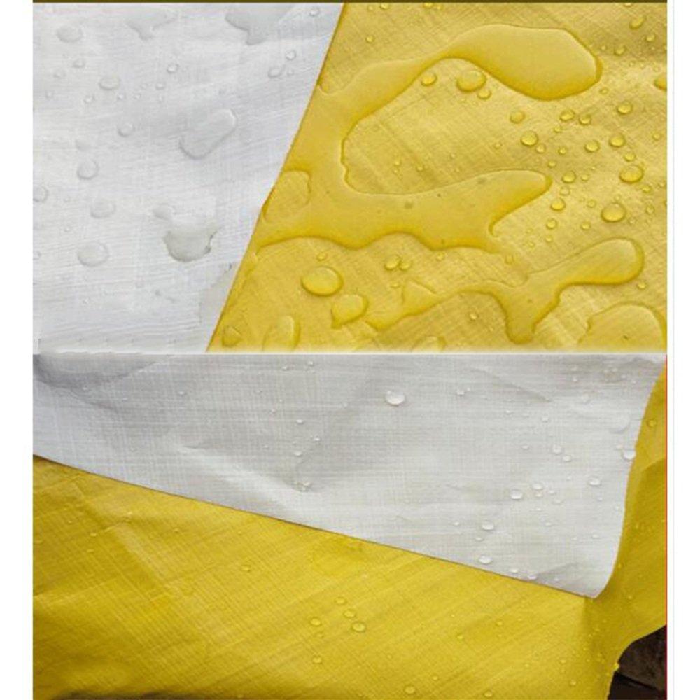 Teloni MEIDUO Cover antipolvere poli multiuso resistente all'acqua, all'acqua, all'acqua, reversibile, gialla e bianca 180 g m² -0,38 mm per esterno (Coloreee   Giallo, dimensioni   510m) | Sulla Vendita  | Negozio  041612