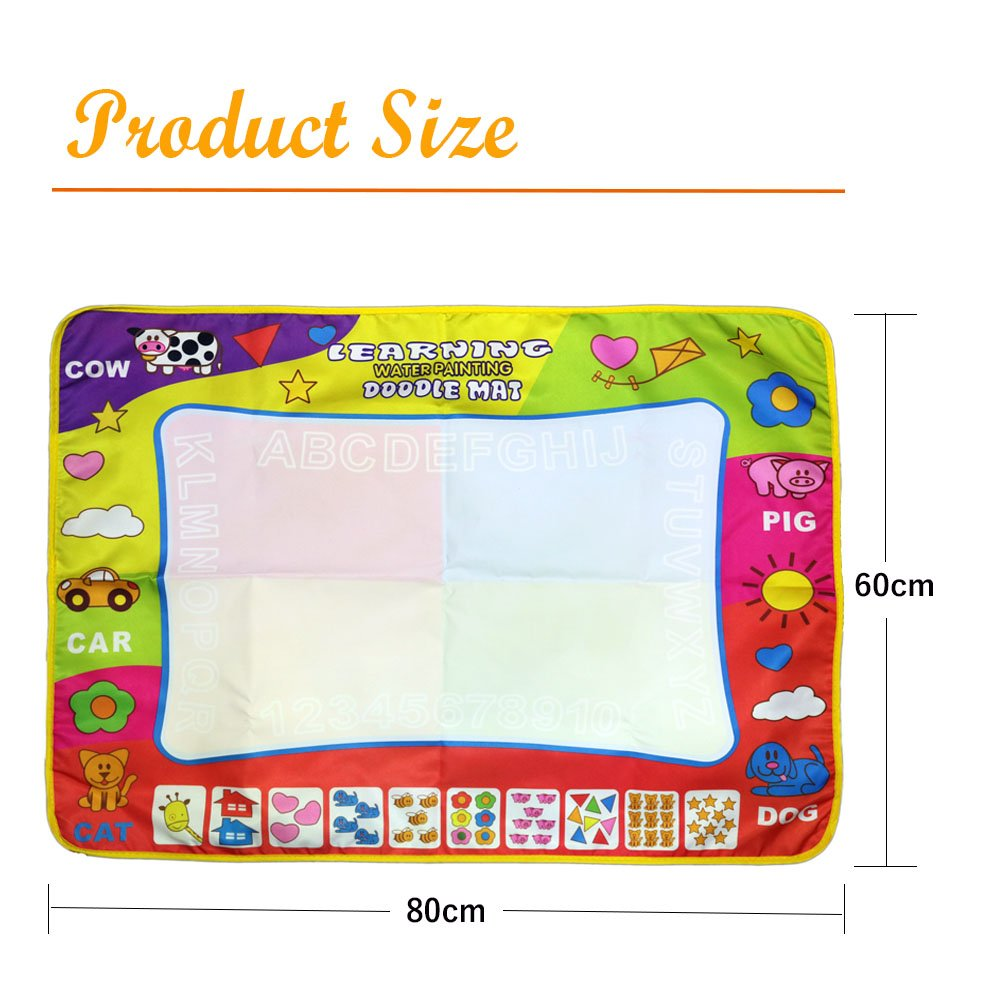 Magic Mat//Water Drawing Painting Mat with 4 Color 31.4in x 23.6in Magnetic Aqua doodle Learning Painting Doodle Scribble Boards with Magic Pen for Kids Lehe trading