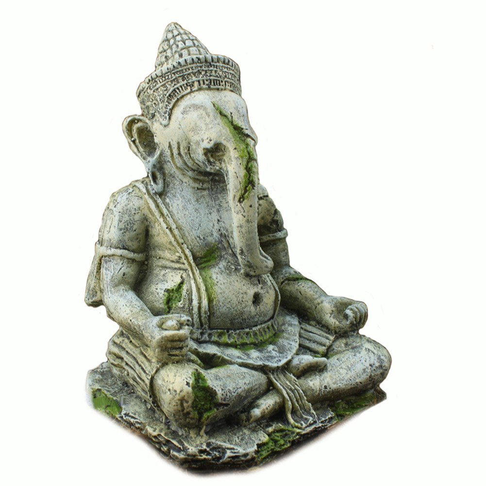 OMEM Fish Tank Decorations Ganesh Buddha Statue Aquarium Ornaments
