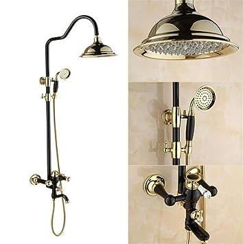 Lucky Clover-A Black Antique European-Style Vacuum Paint Shower Set ...
