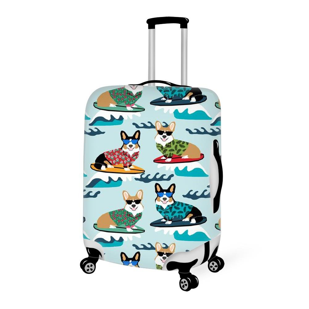 Luggage Cover funny dogs with sunglasses Protective Cover Protector with Zipper Closure Anti-Scratch Dustproof for 18/20/22/24/26/28 Inch