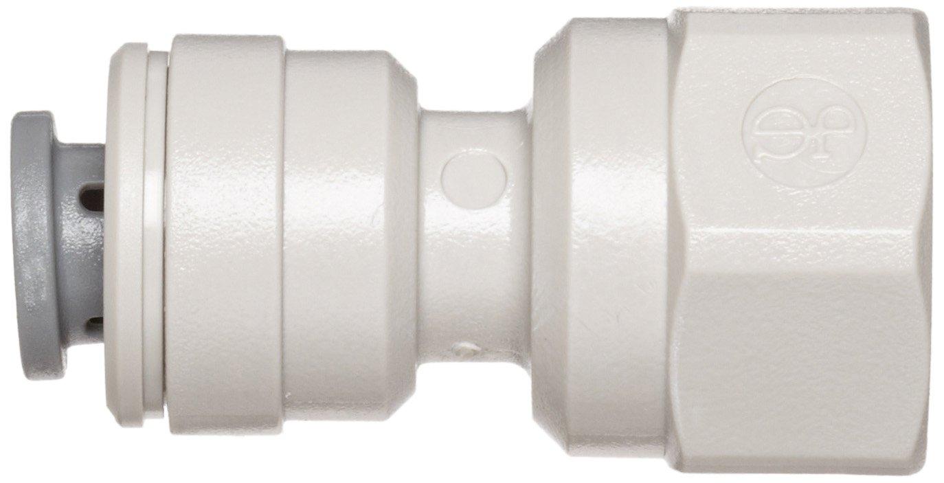 Pack of 10 Adaptor 3//8 Tube OD x 1//4 Flared Female John Guest Acetal Copolymer Tube Fitting