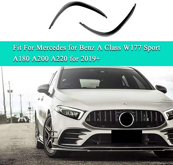 MYAMIA Paraurti Anteriore Laterale Spoiler Splitter Canard per Mercedes Classe A W177 A180 A200 A220 A250 2019-Up Carbon Fiber