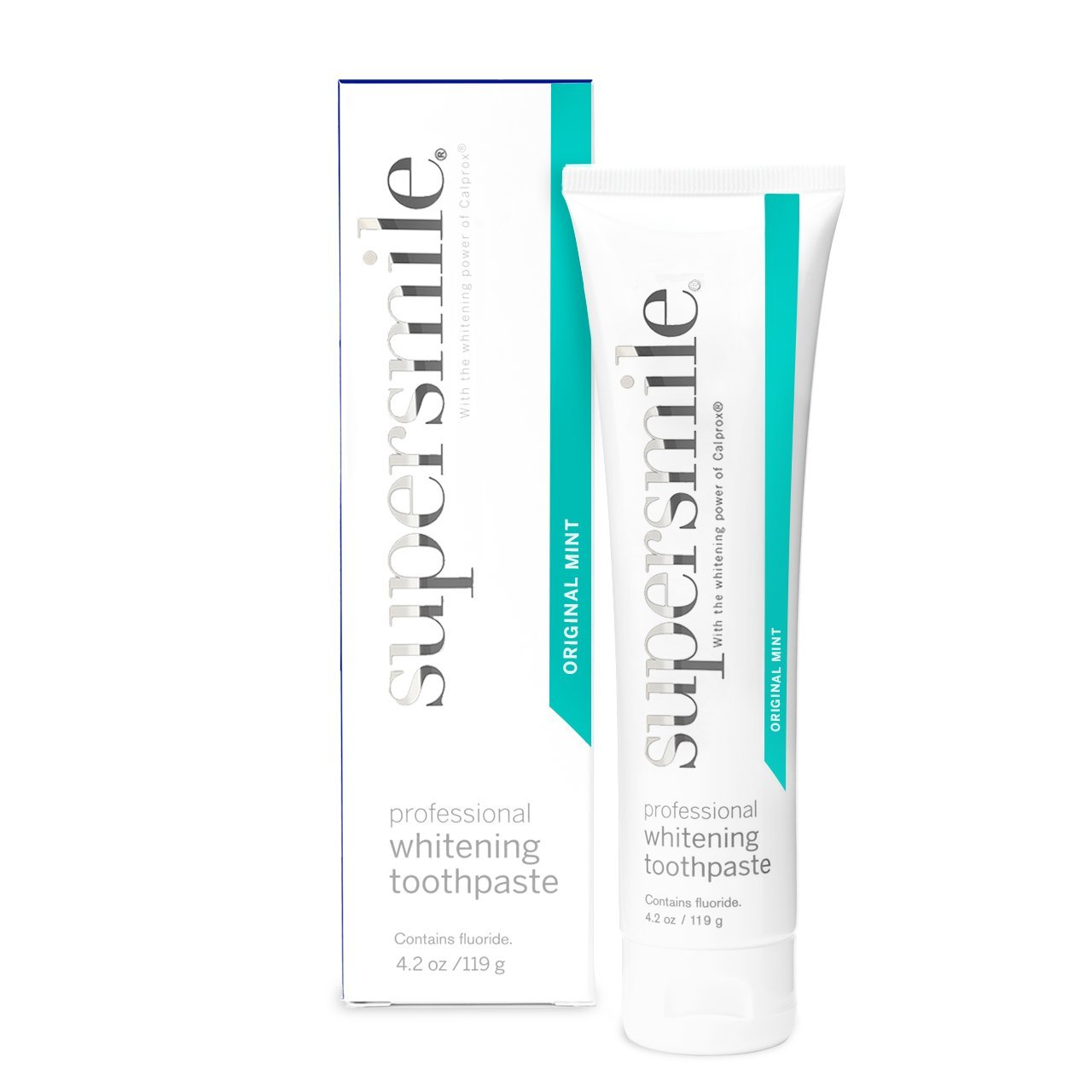 Supersmile Professional Teeth Whitening Toothpaste - Clinically Proven to Remove Coffee Tea Wine Tobacco and Food Stains to Whiten Teeth Up to 6 Shades - SLS and Silica Free - Original Mint 4.2 Oz