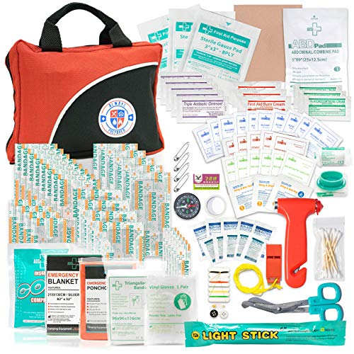 Always Prepared 126 Piece Small First Aid Kit - Ultra Light Home First Aid Kit & Car First Aid Emergency Kit - Wilderness First Aid Kit for Camping, Hiking, Travel - Preparedness Aid Emergency Kit First
