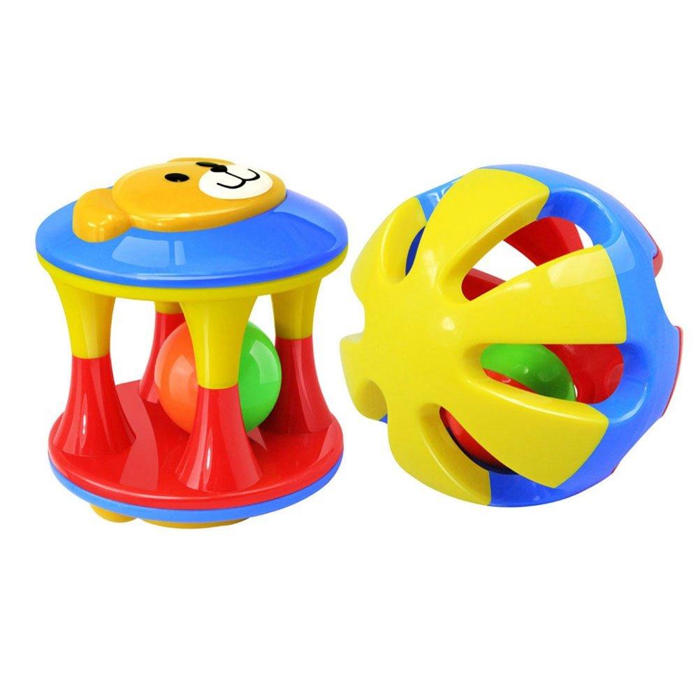 Toyvian 2pcs bebé sonajero Juguetes campanillas agitar agarrar ...
