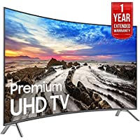 Samsung 64.5 Curved 4K Ultra HD Smart LED TV 2017 Model (UN65MU8500FXZA) with 1 Year Extended Warranty