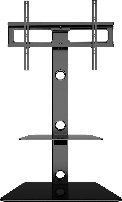 BONTEC Soporte de Suelo para TV con 2 estantes de Vidrio Templado para Pantallas LCD de 30 a 65 LED, LCD, Plasma, Curvas, Altura Ajustable, VESA 600 x 400 mm hasta 40 kg: Amazon.es: Electrónica