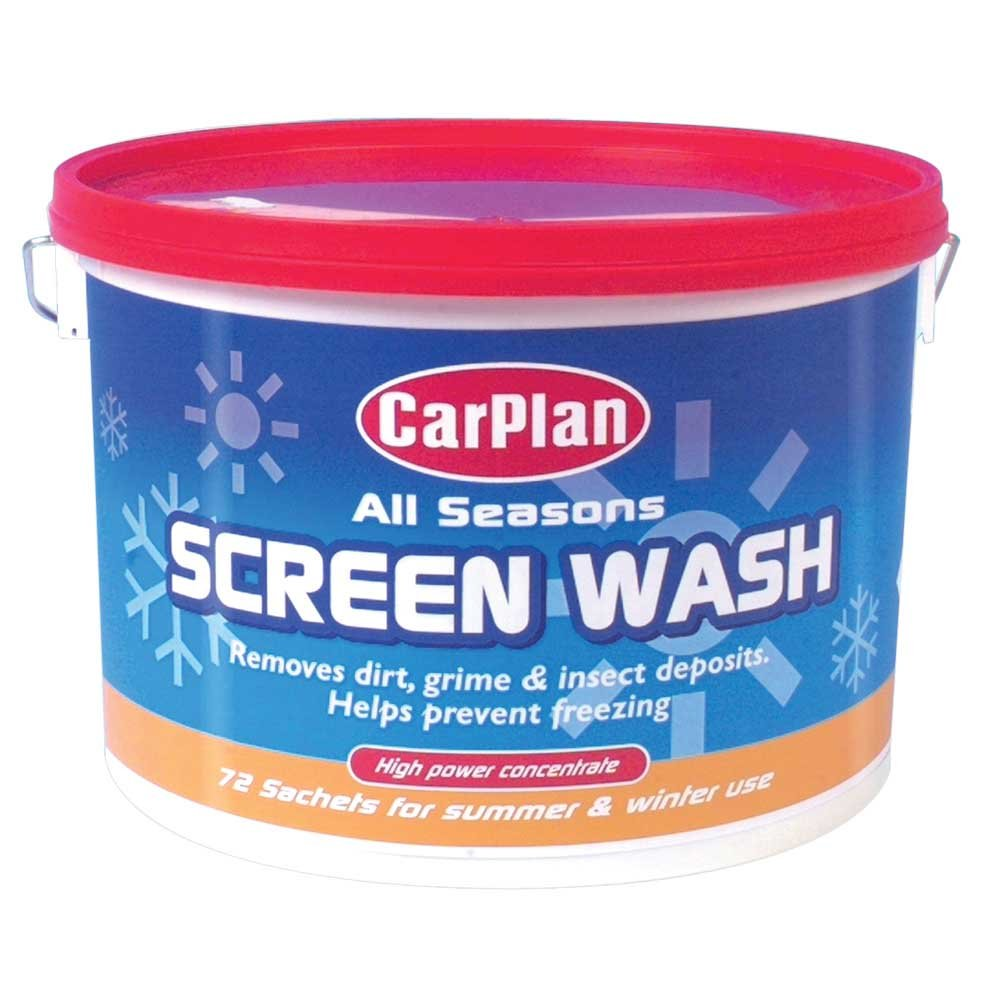 CarPlan All Season Concentrated Screen Wash Bucket Containing 72 Sachets SCL072