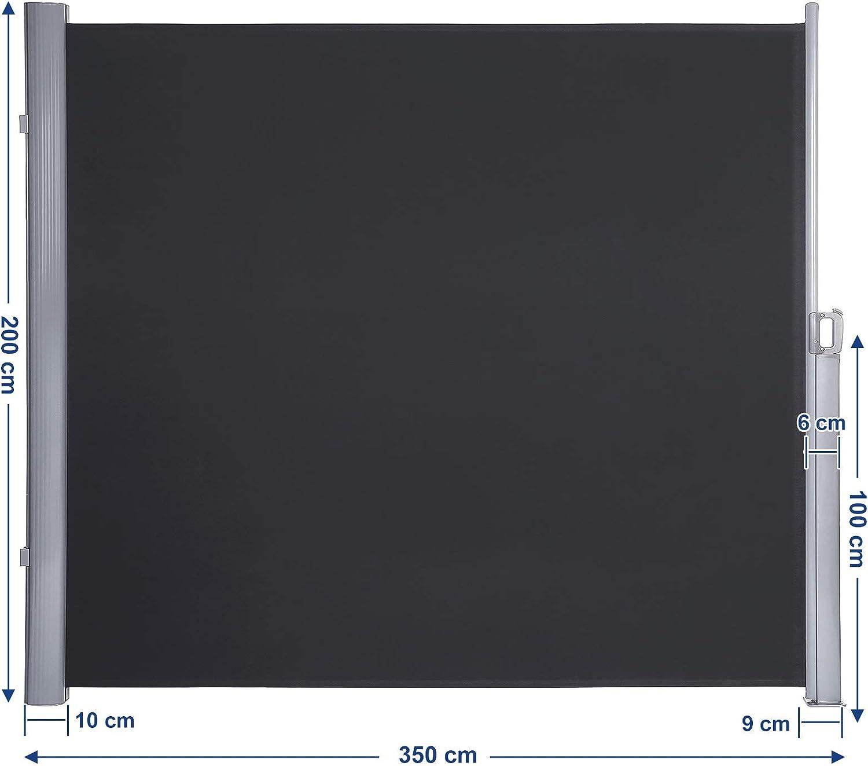 Songmics Seitenmarkise 200 X 350 Cm H X L Fur Balkon Und