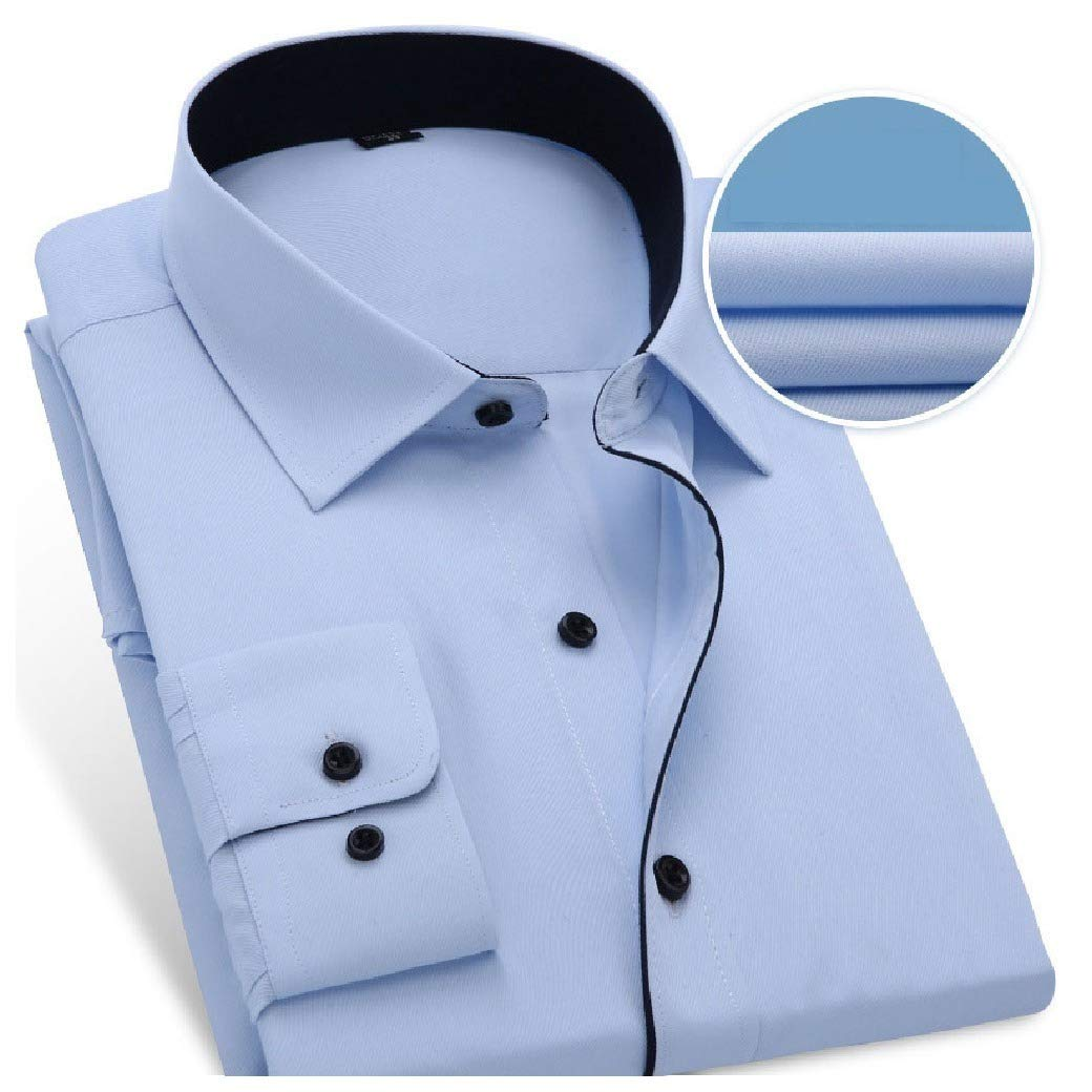 Coolred-Men Skinny Business Solid-Colored Long Sleeve Blouses and Tops Shirts