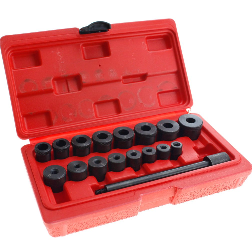 Clutch Alignment Tool Set Kit, 17 Pcs Universal Auto Car Garage Clutch Alignment Setting Tool