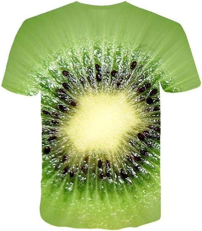 Camisetas, Fruit Kiwi Camiseta Hombre Manga Corta Cuello Redondo Simple Unisex: Amazon.es: Ropa y accesorios