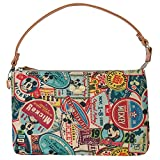 Disney Vintage Style Pattern Purse Mickey Mouse Pouch Bag , Brown