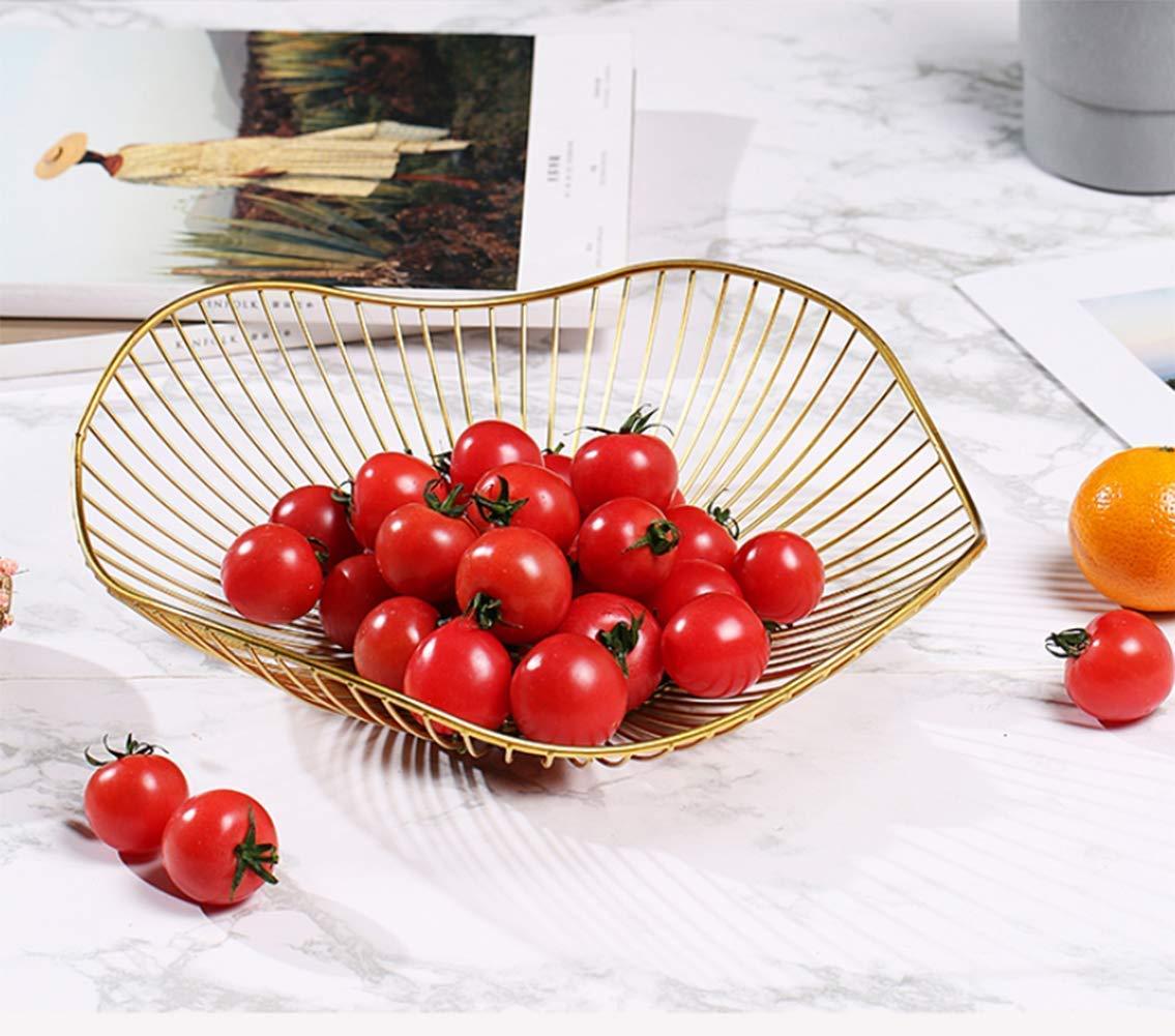 GWZSX Puesto de Frutas frutero de Metal Cesta de Fruta Grande encimera Cesta de Fruta Decorativa Cesta de Fruta pr/áctica-12.5inch Blanco