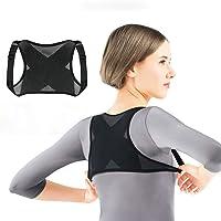 Bodychum Adjustable Posture Corrector Back Shoulder Support Belt Adult Nylon Corset Back For Men Women