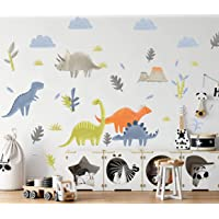 Funny Dinosaur Wall Decals - Dinosaurs Decorative Volcanic Wall Stick - Dinosaur Removable Wall Stickers for Kids Room…