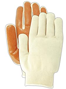 Magid Glove & Safety LB595 Magid MultiMaster Nitrile Palm Coated Gloves, Ladies (Fits Medium), Natural, Men's (Fits Large) (Pack of 12)