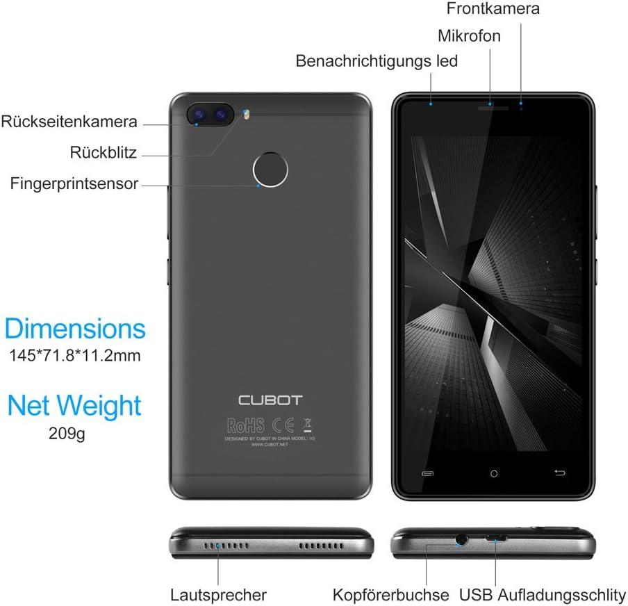 Cubot H3 4 G Smartphone sin Contrato (5.0 pulgadas (12.7 cm ...