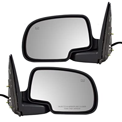 Aftermarket Replacement Driver and Passenger Pair Power Side View Mirrors Heated Puddle Lamp Compatible with 00-06 Tahoe Suburban Yukon: Automotive