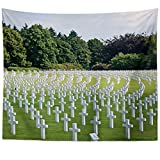 Westlake Art - Cemetery Christian - Wall Hanging Tapestry - Picture Photography Artwork Home Decor Living Room - 68x80 Inch (9A5E6)