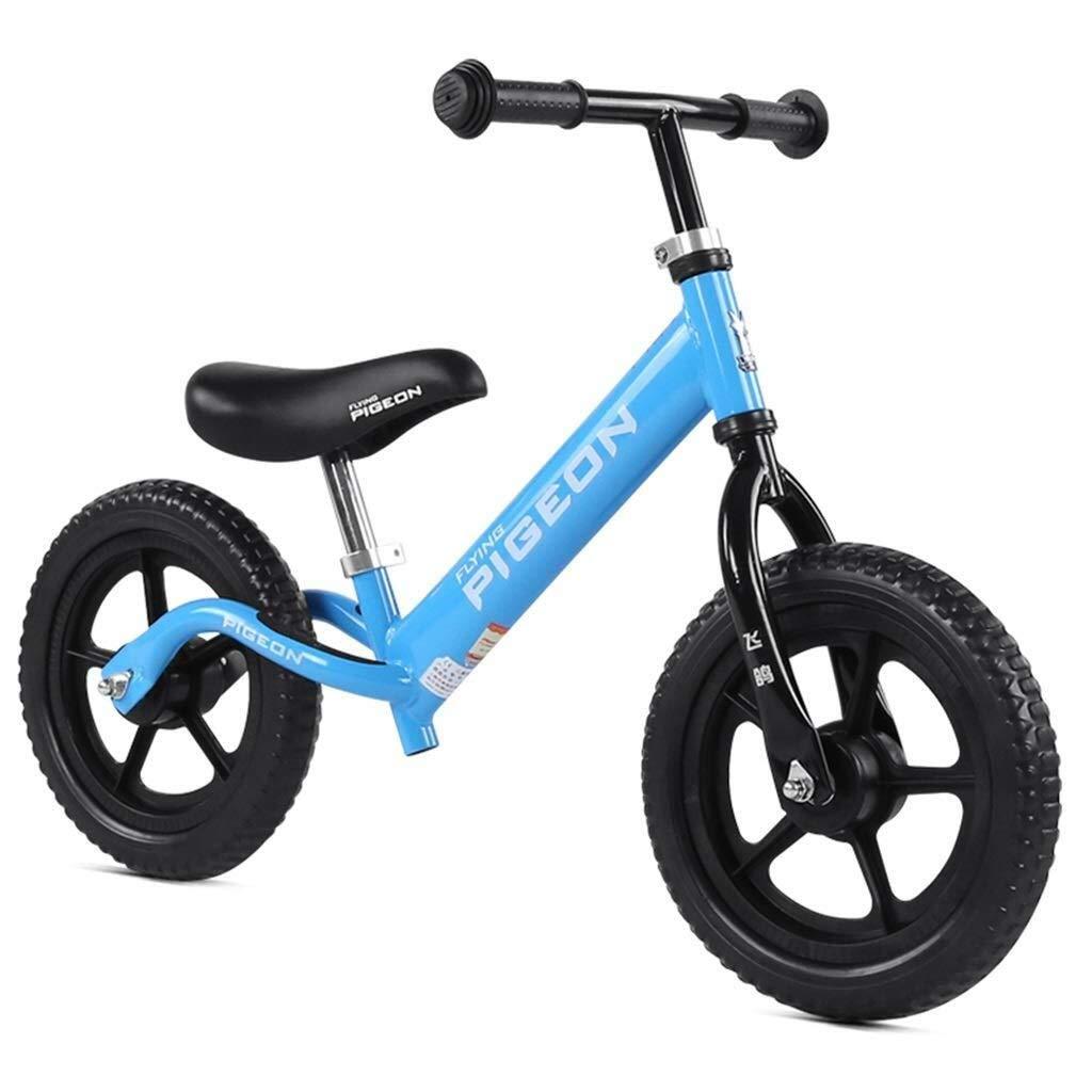 バランスバイク、男の子用キッズ用ランニングバイクプッシュバイク - 調整可能なハンドルバーとフォームタイヤ付きペダルウォーキング自転車、ランニングバイク用トレーニングバイク、ブルー ZHAOFENGMING (Color : Blue, Size : As shown) B07T9SMJ5Z Blue As shown