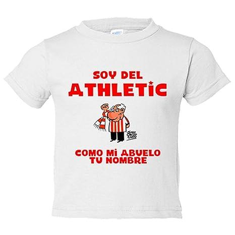 Camiseta niño soy del Athletic de Bilbao como mi abuelo ...