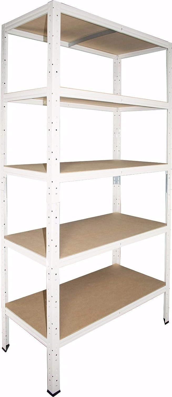 Steckregal 200x45x45 cm weiß Kellerregal Lagerregal Metallregal Regal TOP