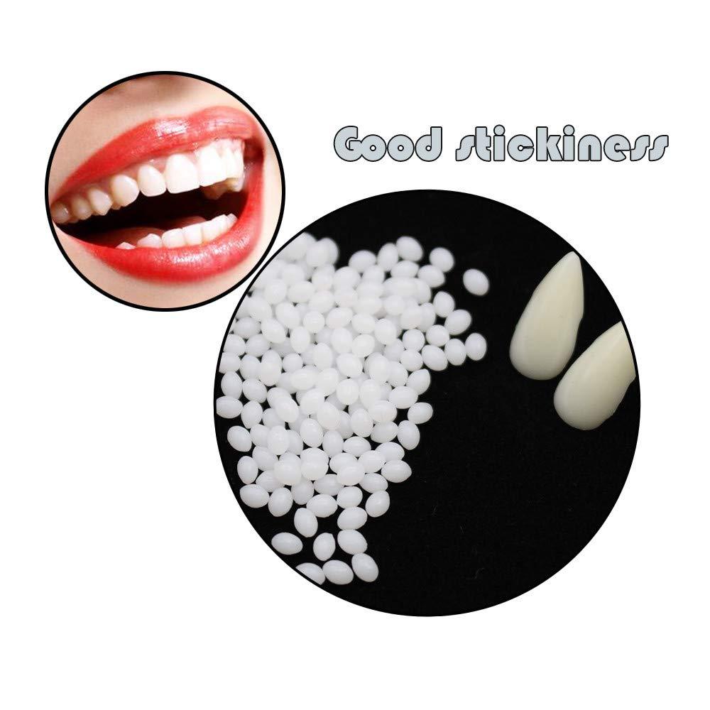 TianranRT Vor/übergehend Zahn Reparatur Kit Z/ähne Und L/ücken Falsch Z/ähne Solide Kleber Zahnersatz Klebstoff 50G