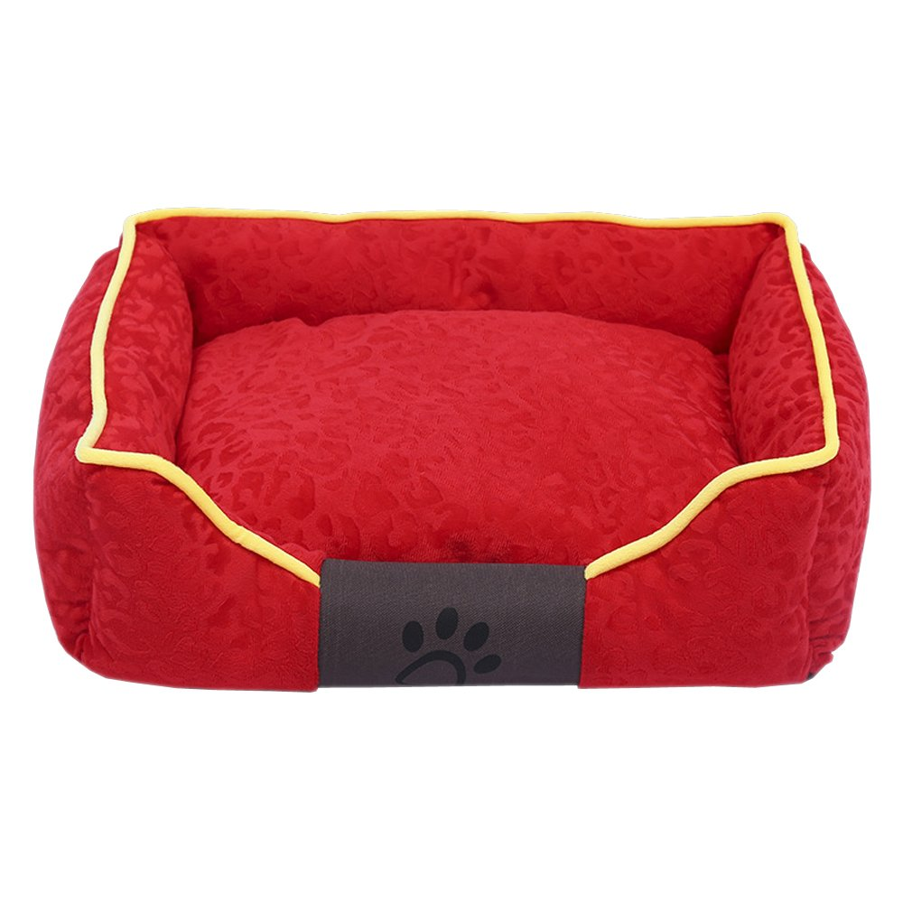 Red L (655017cm) Red L (655017cm) XFentech Pet Kennel,Dog Bed Mat,Non-Slip Base Anti Scratch Keep Warm (Red,L (65  50  17cm))