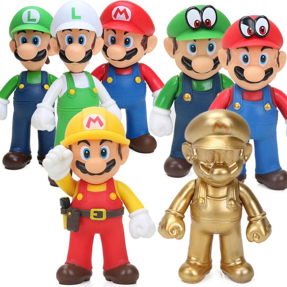 Amazon Com Yode 8 12cm Super Mario Bros Action Figures
