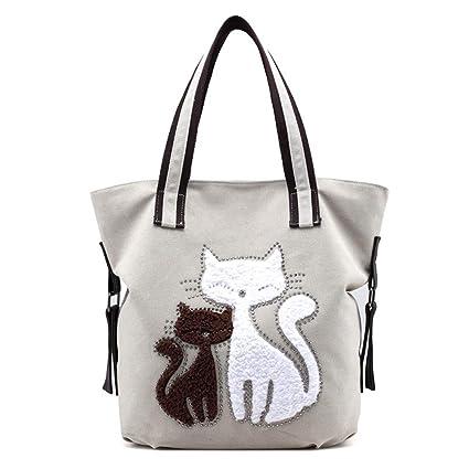 Happyplus1 Borsa Donna, Borsa a Tracolla per Shopping Bag