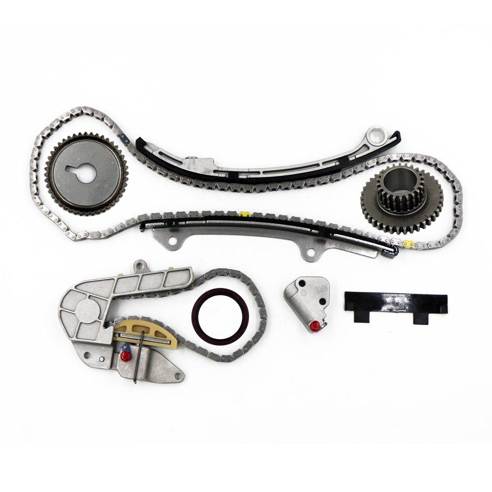 Motorhot 9-4212S Timing Chain Kit for 2002-2006 Nissan Altima Sentra SE-R 2.5L DOHC 16V