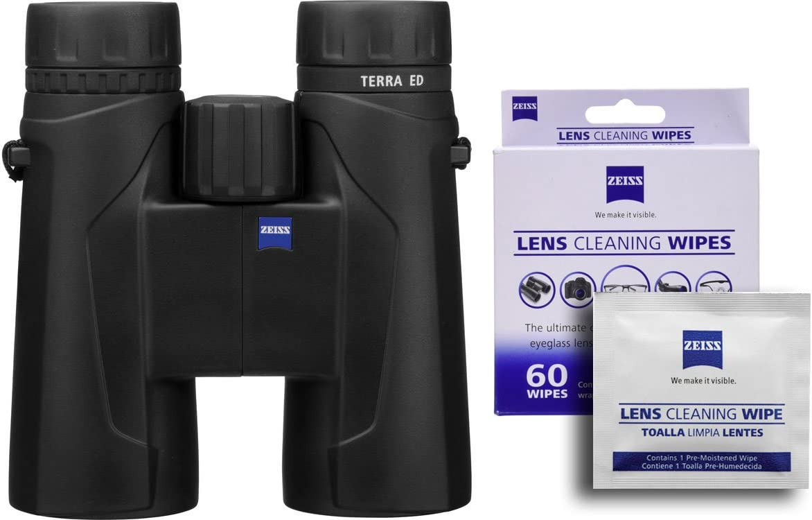 Zeiss Terra 10×42 ED 524206 Binoculars w Free 60 ct. Zeiss Lens Wipes