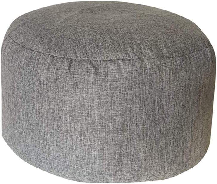 Gray 10 Colors Available 45 25cm Round Bean Bag Cover Footstool Footrest Ottomans Cover Storage Bag