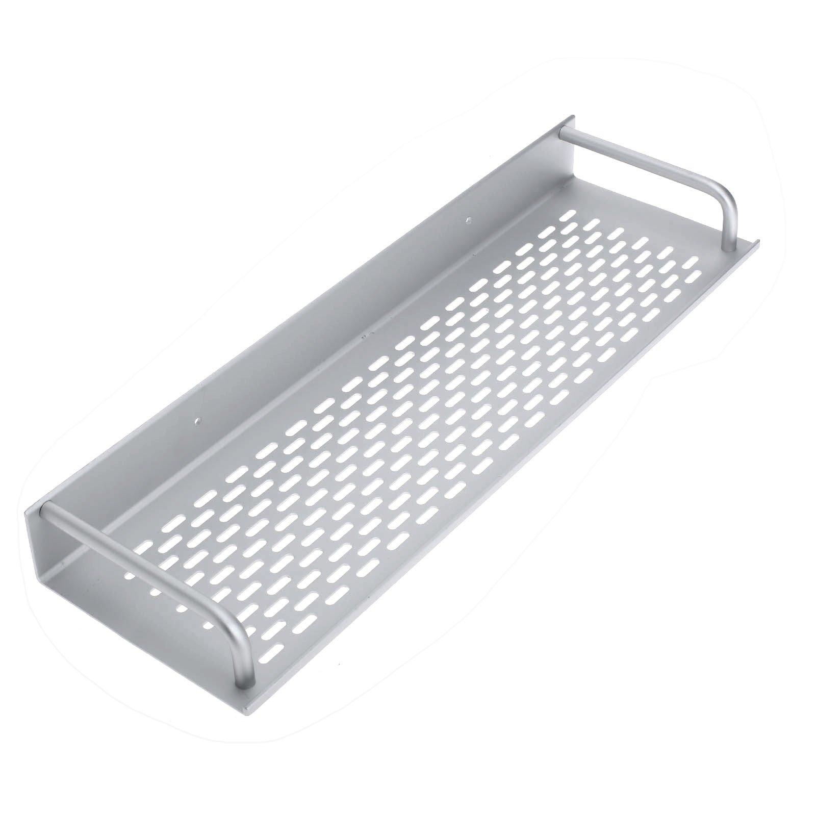 Dophee 40Cm Single Tier Rectangle Bath/Kitchen Rack Aluminum Bathroom Shelf Space Storage For Kitchen Bathroom