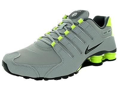 factory price 37791 6e79b Amazon.com   NIKE Shox NZ Mens Running Shoes 378341-057 Silver 8 M US    Running