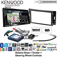Volunteer Audio Kenwood DNX574S Double Din Radio Install Kit with GPS Navigation Apple CarPlay Android Auto Fits 2004-2006 Pontiac GTO With Bose, Onstar, SWC