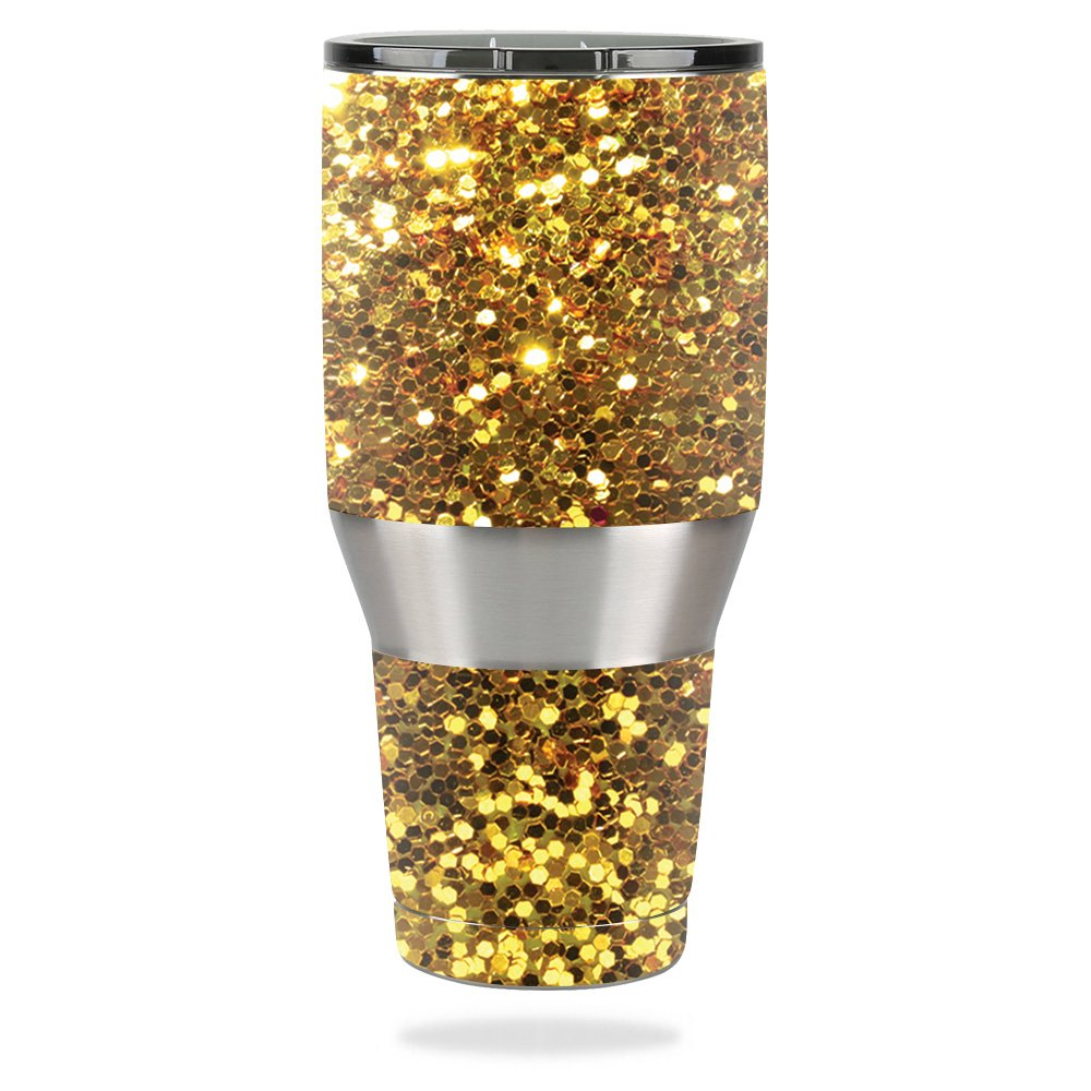 MightySkins Skin for Ozark Trail 40 oz Tumbler – Gold Dazzle | Protective, Durable, and Unique Vinyl Decal wrap Cover | Easy to Apply, Remove, and Change Styles | Made in The USA