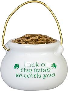 CBE Irish Pot of Gold Luck O' The Irish Porcelain Christmas Ornament