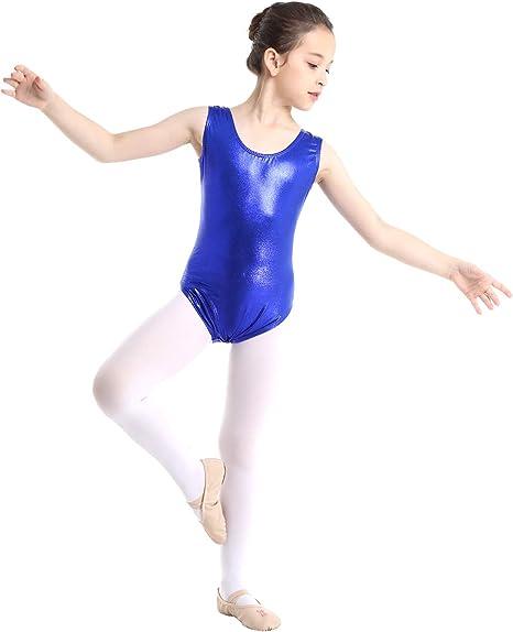 Girls Ballet Dance Gymnastics Leotard One-Piece Jumpsuit Shiny Child Dance Wear