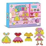 Kids Creative Ironing Beads Set - Wishtime 2017 New Design 824pcs Colorful Iron-On Beads Kids DIY Art Craft Kit for 6+ Toddlers Best Birthday Gift