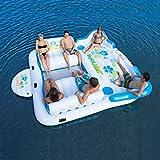 Tropical Tahiti Inflatable Floating Island 6-Person Capacity
