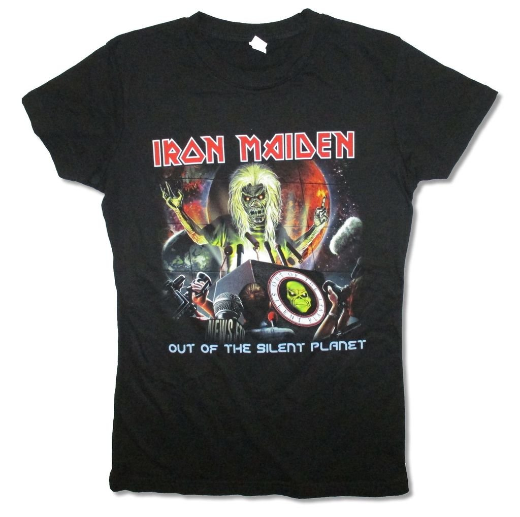 Iron Maiden Out Of The Silent Planet Black Babydoll T Shirt