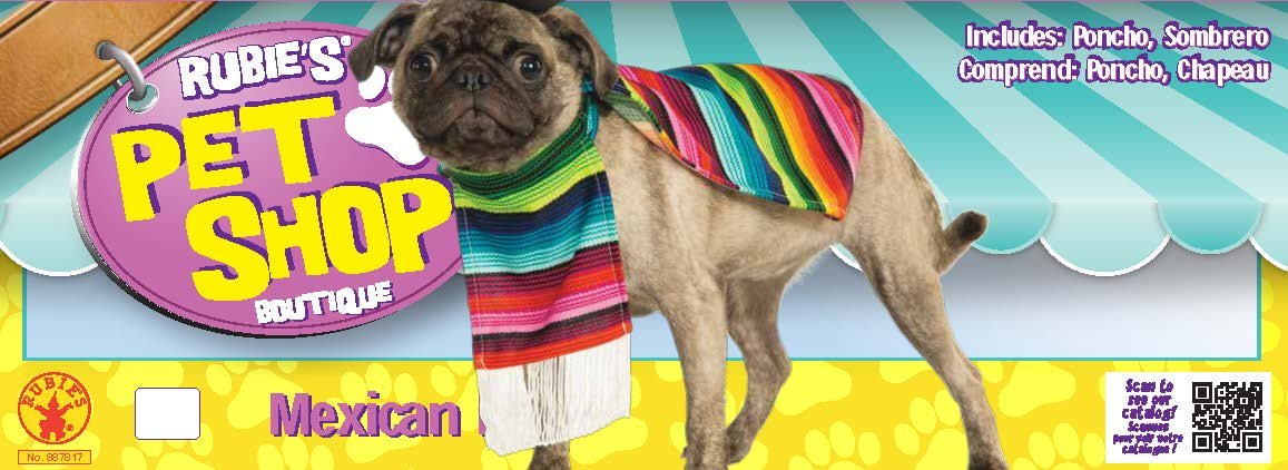 Rubie's Pet Costume, Large, Mexican Serape by Rubie's (Image #4)