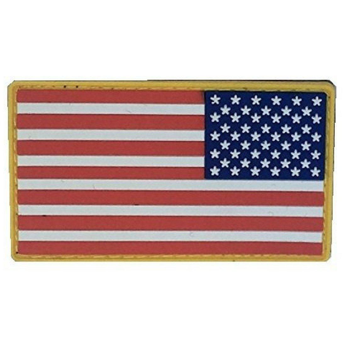 カラーInverted US Flag PVCパッチ   B06XXQNLG2