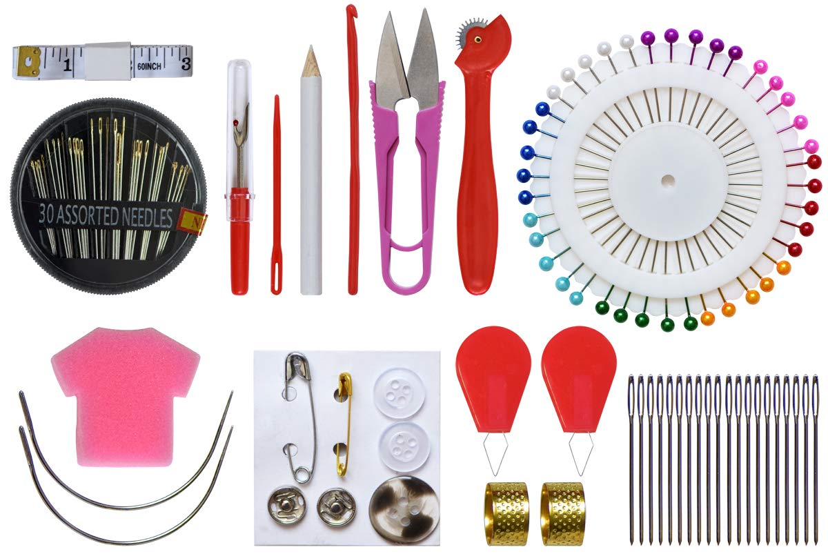 Embroidery Starter Kit Including-5 Pieces Embroidery Hoops-102 Color Cotton Threads-3 Pieces emnroidery Cloth and Free Cross Stitch Tool Kit for Beginners