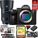 Sony Alpha a7 III Mirrorless Digital Camera w/135mm Lens International Version (No Warranty) Master Photographer Kit